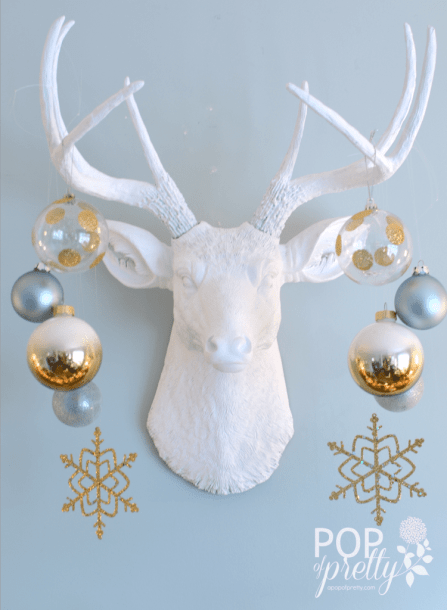 deer head with ornaments