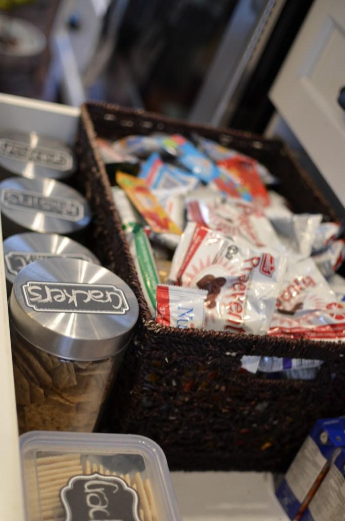 more kitchen storage tips snack drawer