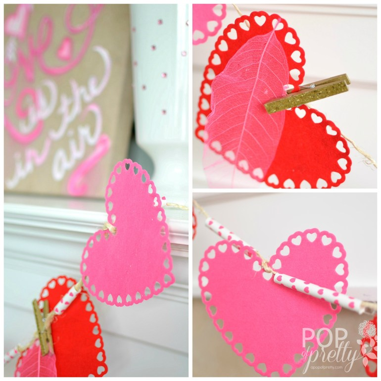 Valentines Day decorating ideas banner