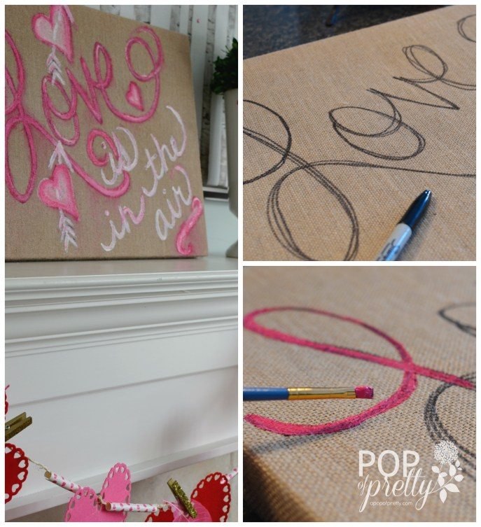 Valentines Day decorating - diy art