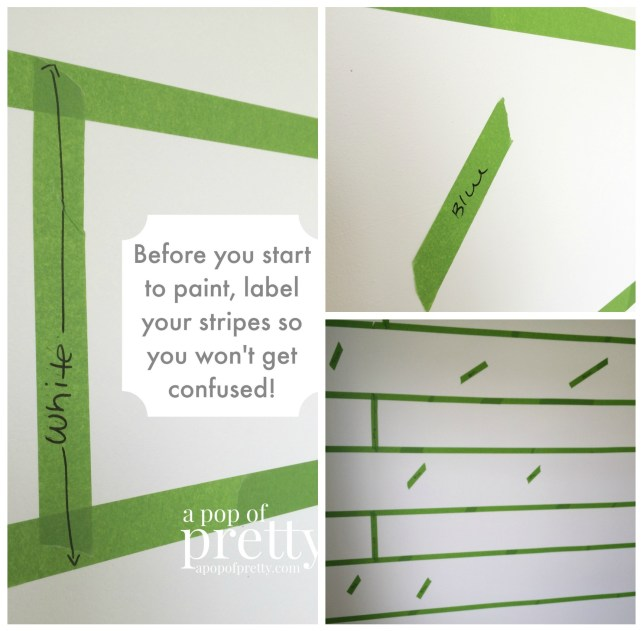 how to paint wall stripes - label