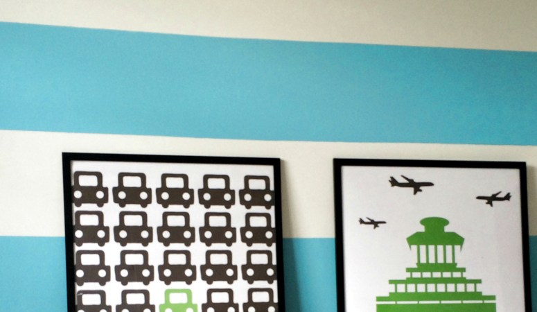 How to paint wall stripes (the second time around!)