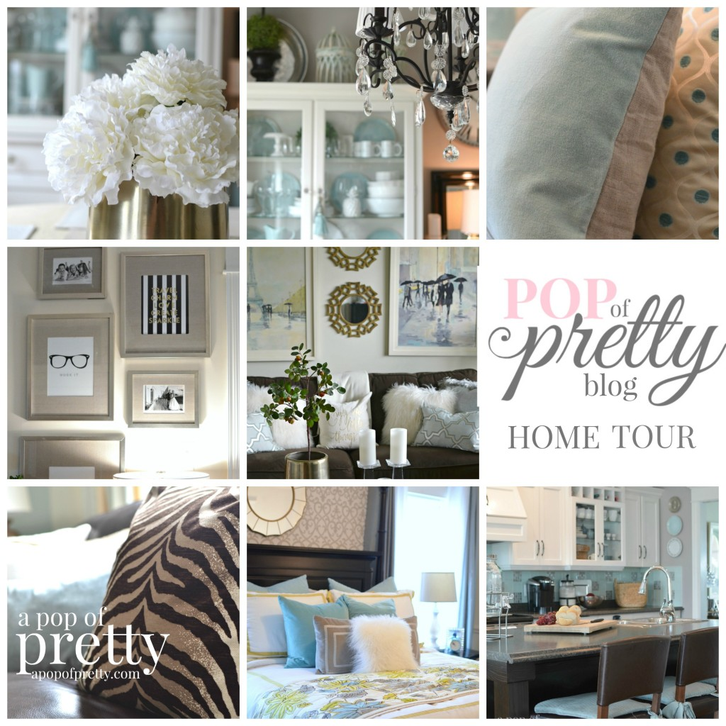 Attractive Canadian Bloggers Home Tours  A Pop Of Pretty / Home Tour Collage