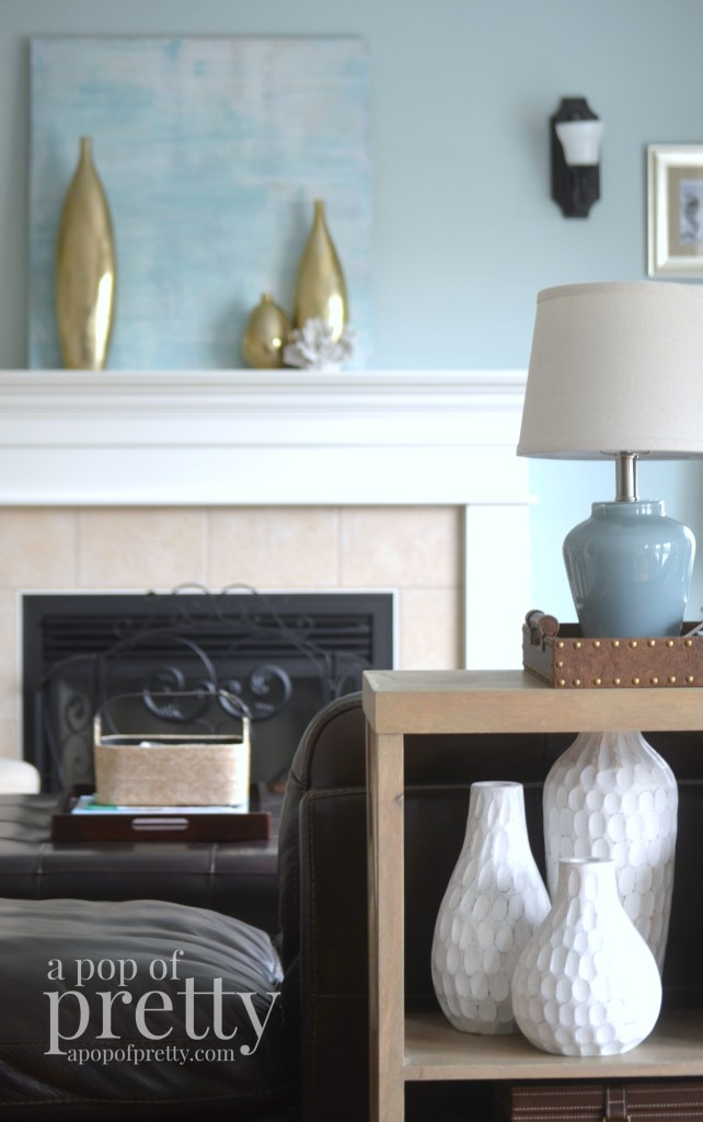 Canadian Bloggers Home Tour - a pop of pretty TV Room 1