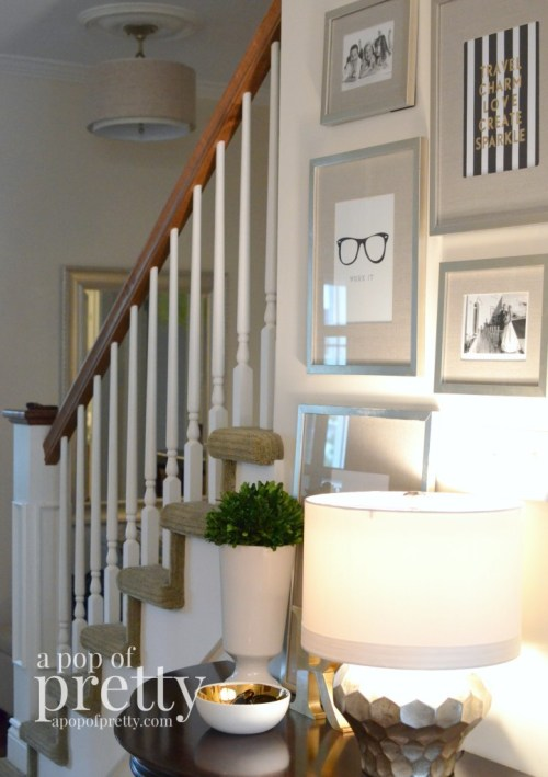 Canadian Bloggers Home Tour - A Pop of Pretty - Entryway2