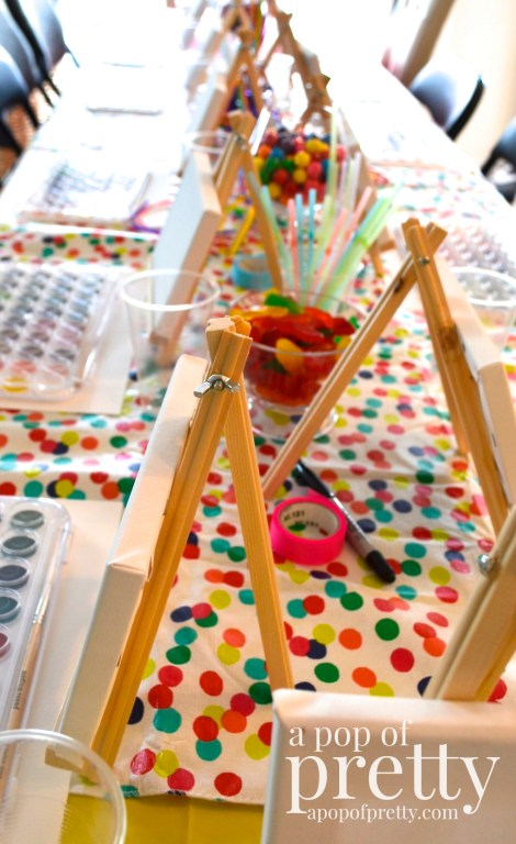 diy canvas painting party