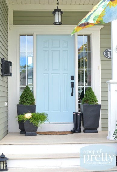 blue door color ideas - Behr Dayflower