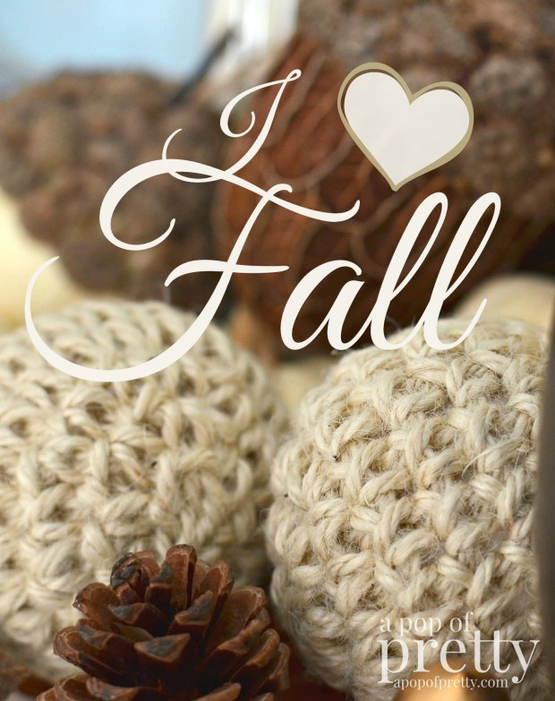 Fall decorating I love Fall