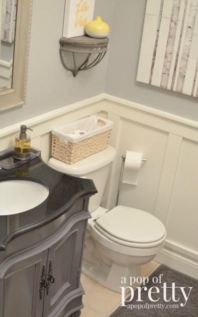 painted bathroom vanity makeover behr