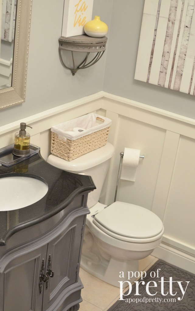 Painted Bathroom Vanity Makeover Behr