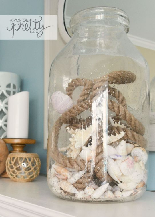 nautical decor - centerpiece