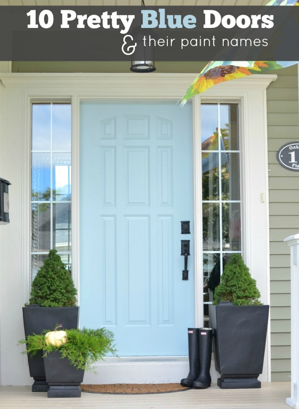 10 Pretty Blue Doors and their paint names & Door Color Ideas: 10 Pretty Blue Doors - A Pop of Pretty Blog ...