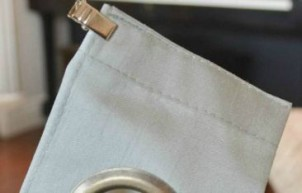 Curtain Hack Tutorial (No Sew): Pleated Drapes from Grommet Panels