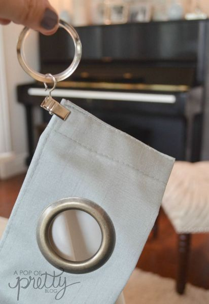 grommet curtain hack step two