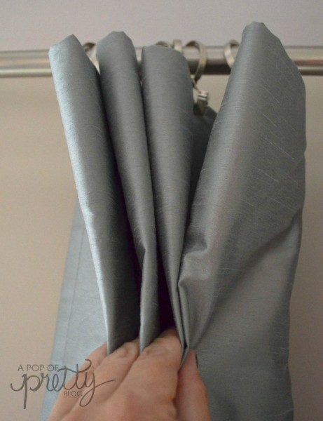 pleated curtain hack