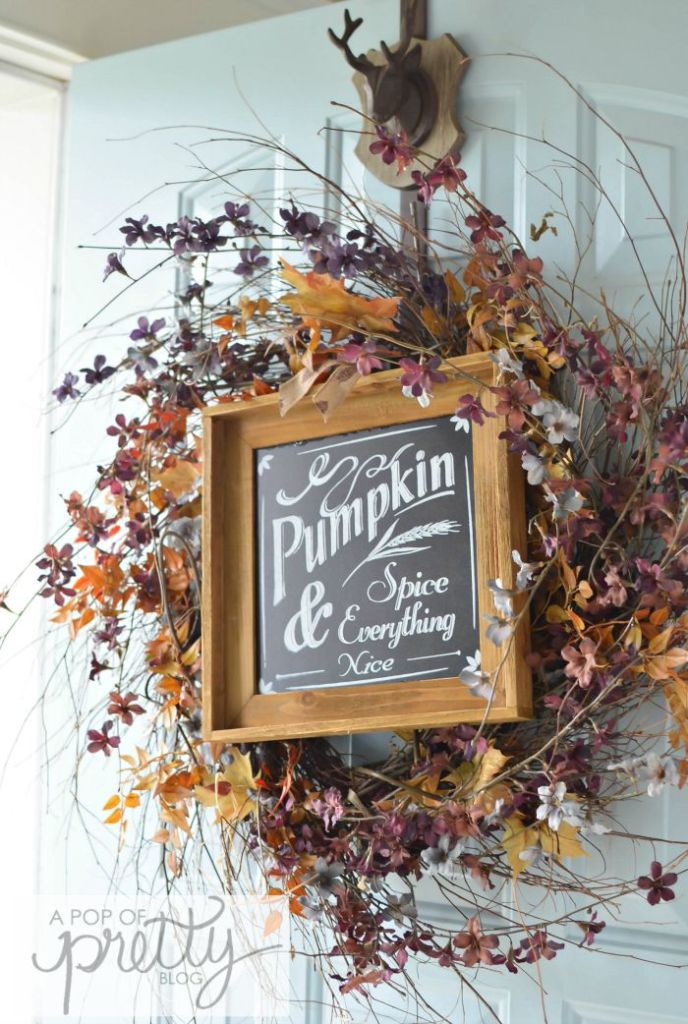 Canadian Bloggers Home Tours - Fall Wreath