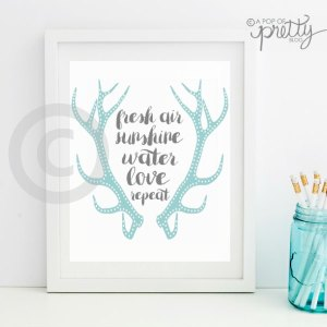 Antlers printable