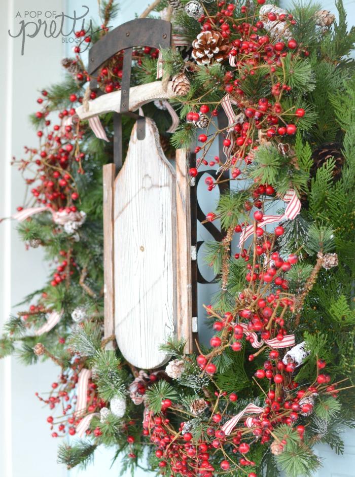 Rustic Christmas Front Porch Wicker Emporium A Pop Of