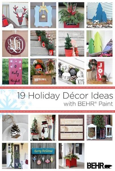 Behr Holiday Decor Ideas Collage