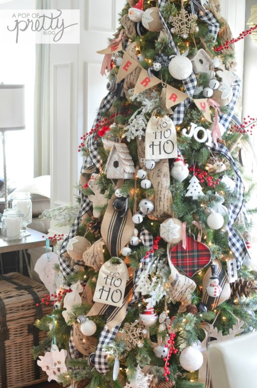 Red Plaid Christmas Decor - Christmas Tree and Home Tour