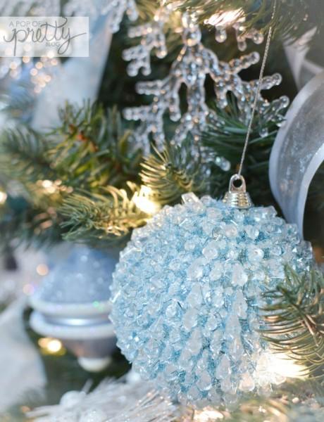 Disney Frozen Christmas Tree ideas blue ball