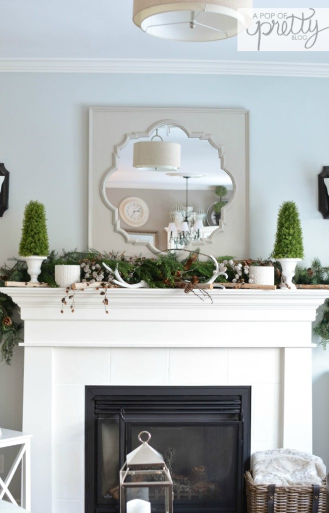 Winter mantel - Christmas greenery