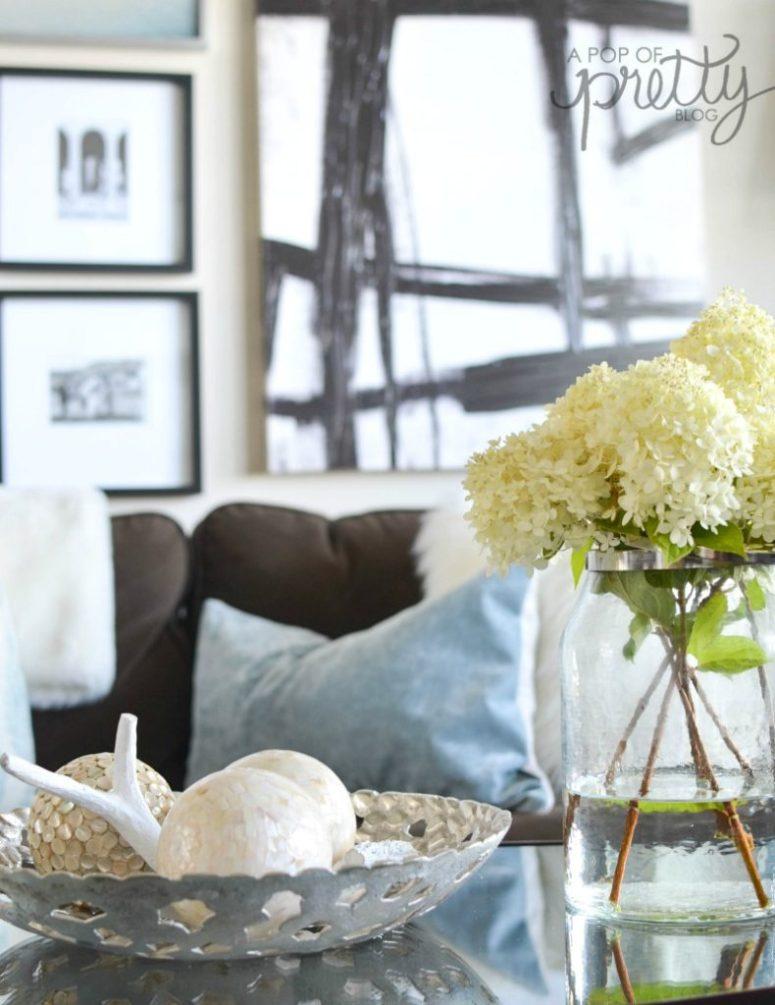 decorating with hydrangeas Fall
