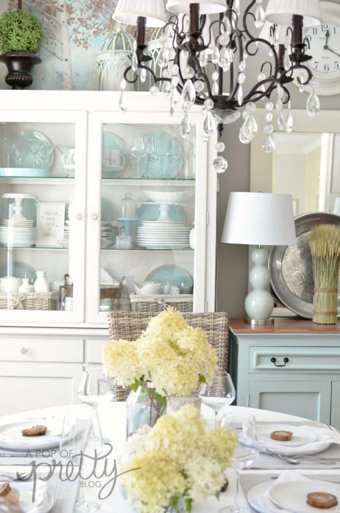 white kitchen fall decor