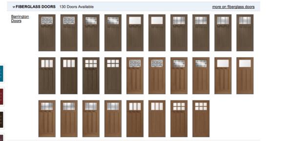 Masonite Craftsman front door options