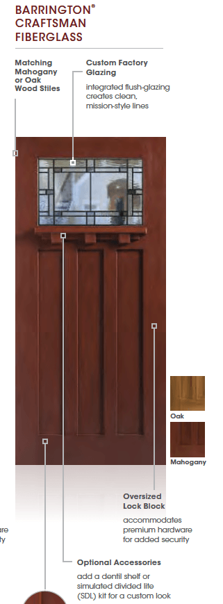 Masonite Barrington Craftsman Front Door