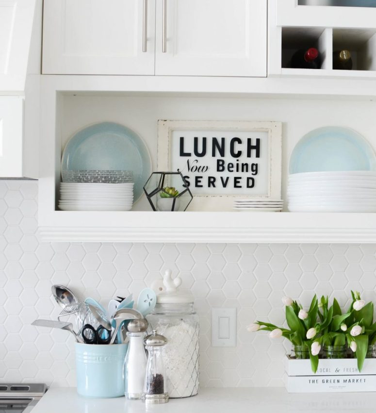 kitchen renovation open shelving