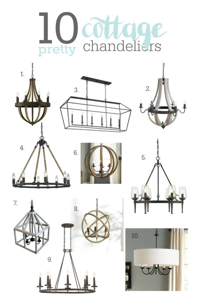 cottage chandeliers to love