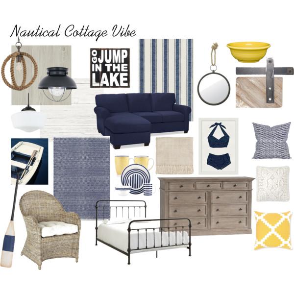nautical cottage moodboard