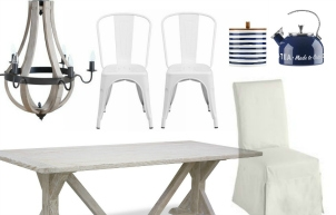 Navy and White Cottage Kitchen: Mood Board