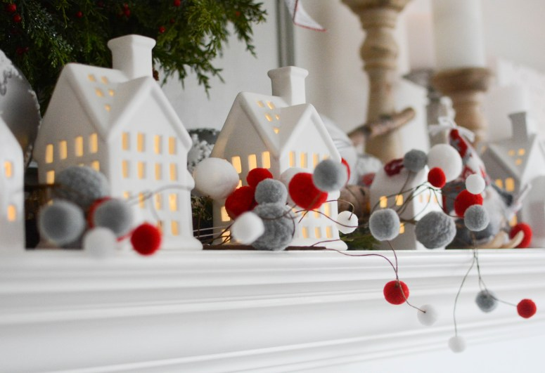 Nordic Christmas decor Walmart mantel