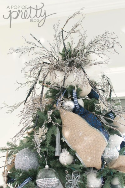 Christmas tree topper - navy blue Christmas