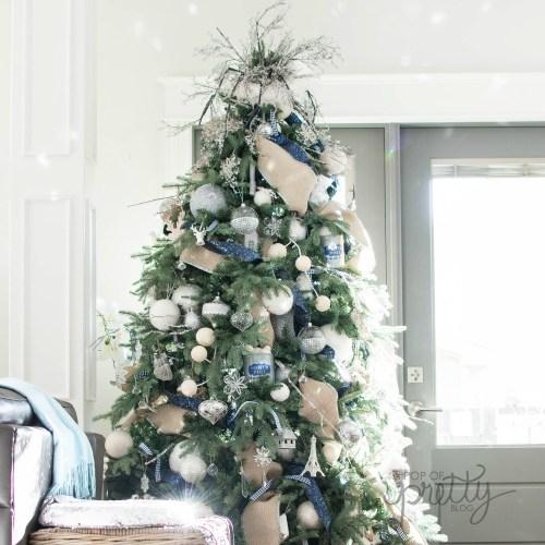 navy blue Christmas decor - Christmas tree