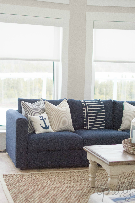 IKEA Vimle Sofa Orrsta Black Blue