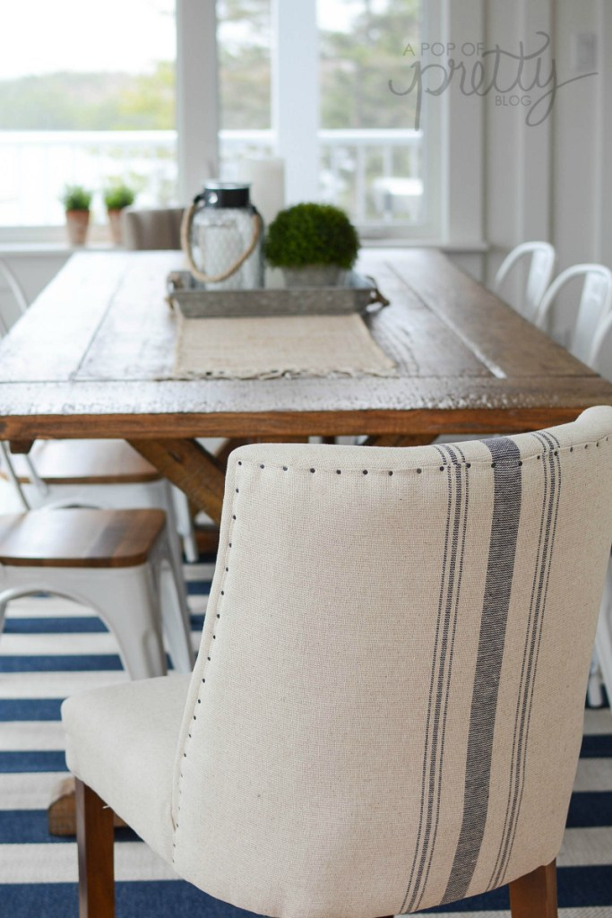 reclaimed trestle dining table