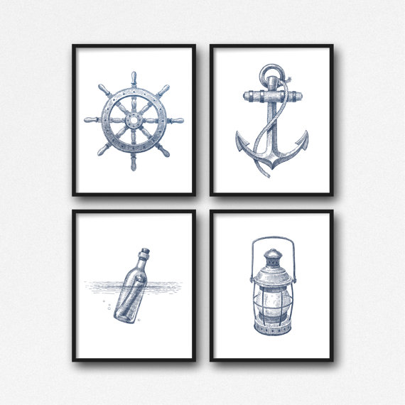 nautical art etsy