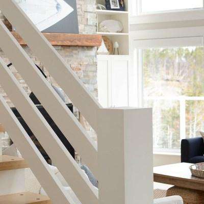 Coastal style cottage staircase