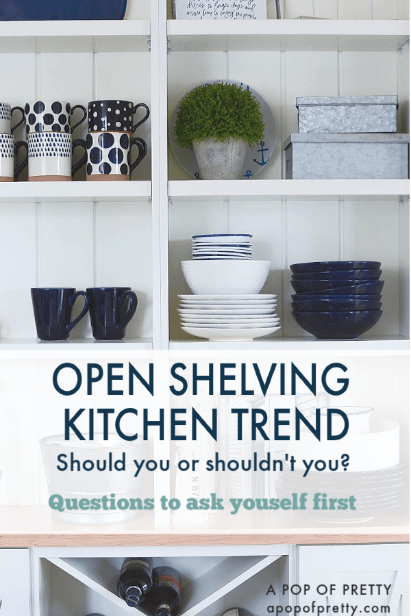 kitchen open shelving trend
