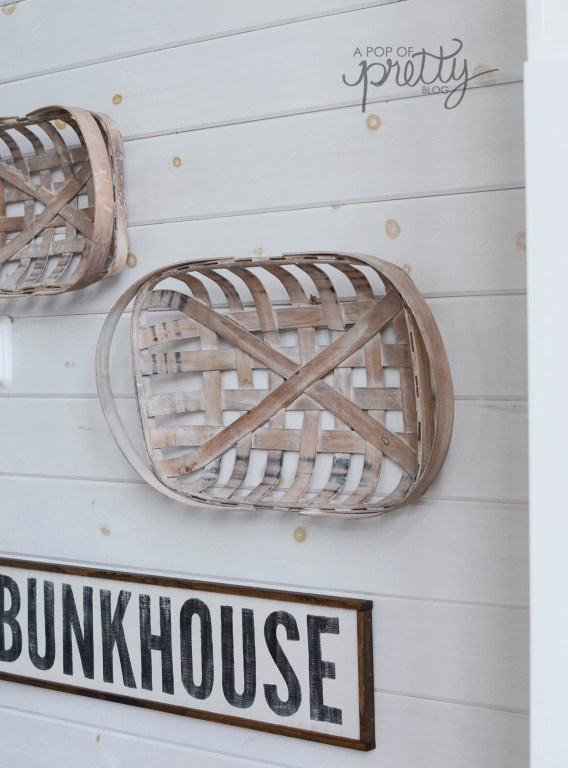 tobacco baskets on plank walls