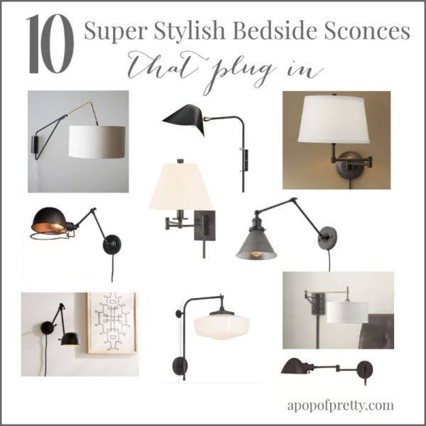 10 stylish bedside wall sconces that plug in