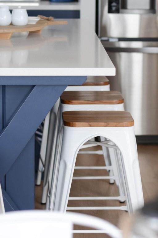 coastal style lake house metal bistro stools where to buy