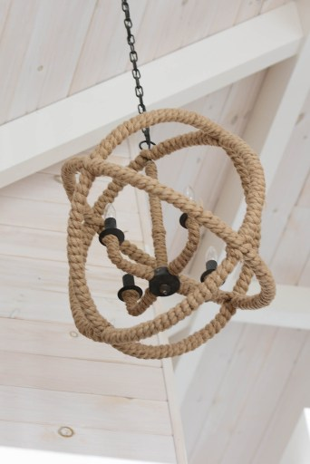 lake house rope chandelier