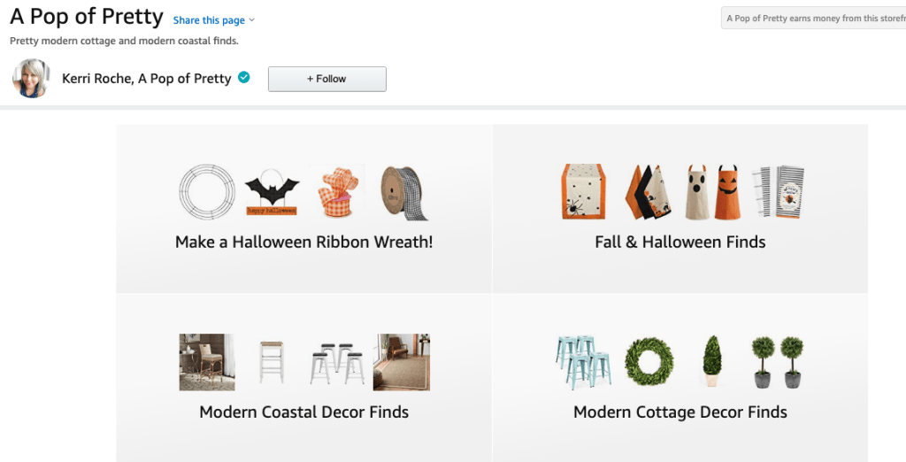 A Pop of Pretty Blog Amazon Storefront