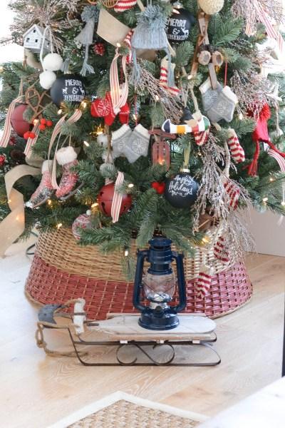 bottom of a Christmas tree