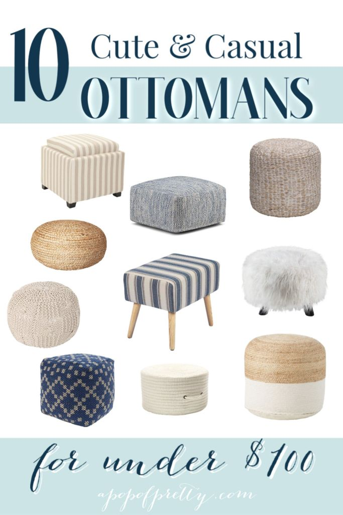 Ottomans and poufs under $100