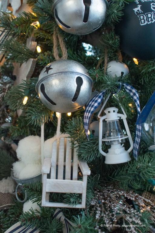hang ornaments with ribbon